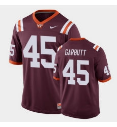 Men Virginia Tech Hokies Tyjuan Garbutt Replica Maroon Football Game Jersey