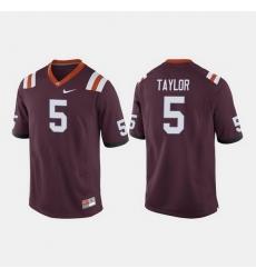 Men Virginia Tech Hokies Tyrod Taylor College Football Maroon Jersey