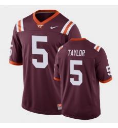 Men Virginia Tech Hokies Tyrod Taylor Replica Maroon Football Game Jersey
