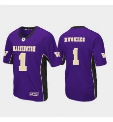Men Washington Huskies 1 Purple Max Power Football Jersey