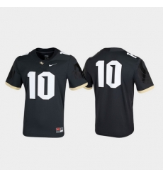 Men Ucf Knights 10 Anthracite Untouchable Game Jersey