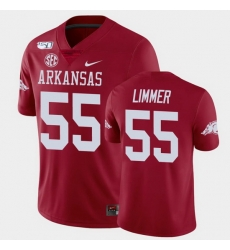 Men Arkansas Razorbacks Beaux Limmer College Football Cardinal Game Jersey