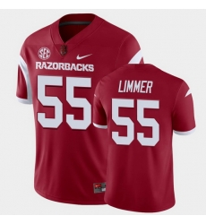 Men Arkansas Razorbacks Beaux Limmer College Football Cardinal Playoff Game Jersey