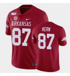 Men Arkansas Razorbacks Blake Kern College Football Cardinal Game Jersey