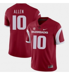 Men Arkansas Razorbacks Brandon Allen Cardinal College Football 2018 Game Jersey