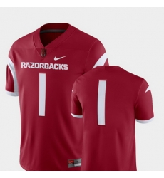 Men Arkansas Razorbacks Cardinal College Football 2018 Game Jersey