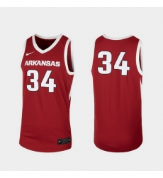 Men Arkansas Razorbacks Cardinal Replica College Basketball Nike Jersey
