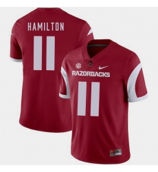 Men Arkansas Razorbacks Cobi Hamilton Cardinal College Football 2018 Game Jersey