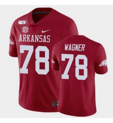 Men Arkansas Razorbacks Dalton Wagner College Football Cardinal Game Jersey