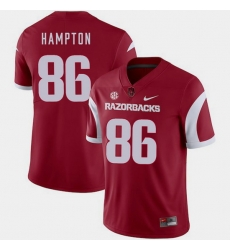 Men Arkansas Razorbacks Dan Hampton Cardinal College Football 2018 Game Jersey