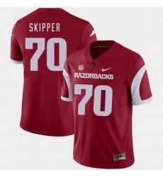 Men Arkansas Razorbacks Dan Skipper Cardinal College Football 2018 Game Jersey