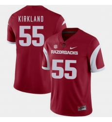 Men Arkansas Razorbacks Denver Kirkland Cardinal College Football 2018 Game Jersey