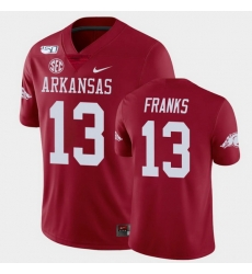 Men Arkansas Razorbacks Feleipe Franks College Football Cardinal Game Jersey