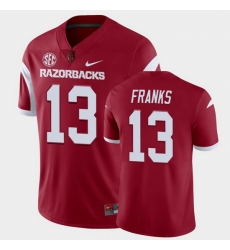 Men Arkansas Razorbacks Feleipe Franks College Football Cardinal Playoff Game Jersey
