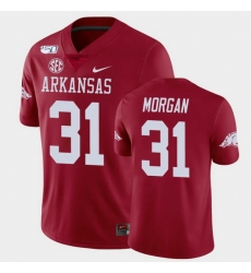 Men Arkansas Razorbacks Grant Morgan College Football Cardinal Game Jersey