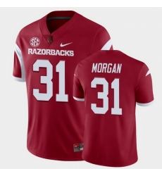 Men Arkansas Razorbacks Grant Morgan College Football Cardinal Playoff Game Jersey
