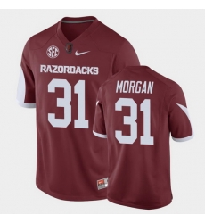 Men Arkansas Razorbacks Grant Morgan Game Cardinal Replica Football Jersey