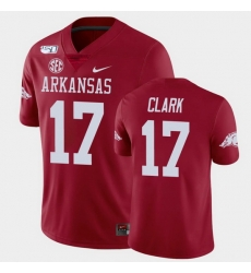 Men Arkansas Razorbacks Hudson Clark College Football Cardinal Game Jersey