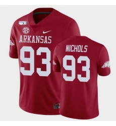 Men Arkansas Razorbacks Isaiah Nichols College Football Cardinal Game Jersey