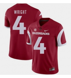 Men Arkansas Razorbacks Jarius Wright Cardinal College Football 2018 Game Jersey