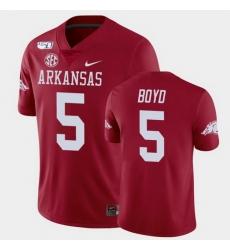 Men Arkansas Razorbacks Rakeem Boyd College Football Cardinal Game Jersey