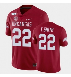 Men Arkansas Razorbacks Trelon Smith College Football Cardinal Game Jersey