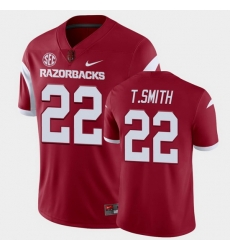 Men Arkansas Razorbacks Trelon Smith College Football Cardinal Playoff Game Jersey