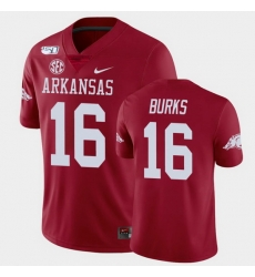 Men Arkansas Razorbacks Treylon Burks College Football Cardinal Game Jersey