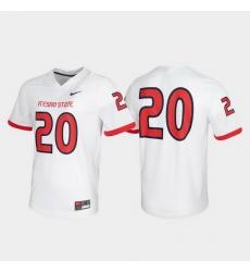 Men Fresno State Bulldogs 20 White Untouchable Game Jersey