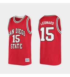 Men San Diego State Aztecs Kawhi Leonard Alumni Red College Baketball Jersey