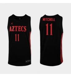 Men San Diego State Aztecs Matt Mitchell Replica Black College Baketball 2019 20 Jersey