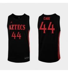 Men San Diego State Aztecs Michael Cage Replica Black College Baketball 2019 20 Jersey