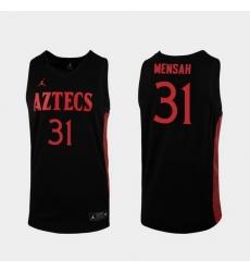 Men San Diego State Aztecs Nathan Mensah Replica Black College Baketball 2019 20 Jersey