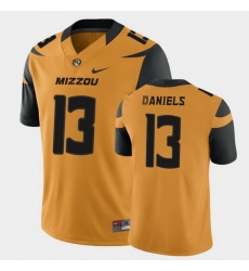 Men Missouri Tigers Chris Daniels College Football Gold Game Jersey