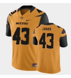Men Missouri Tigers Jerney Jones College Football Gold Game Jersey