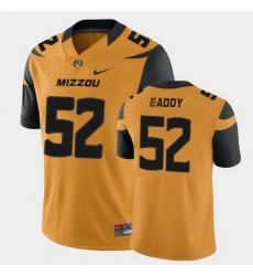 Men Missouri Tigers Myles Eaddy College Football Gold Game Jersey