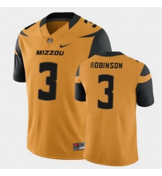 Men Missouri Tigers Shawn Robinson College Football Gold Game Jersey