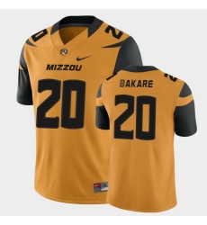 Men Missouri Tigers Simi Bakare College Football Gold Game Jersey