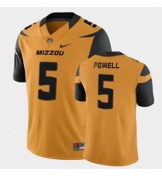 Men Missouri Tigers Taylor Powell College Football Gold Game Jersey