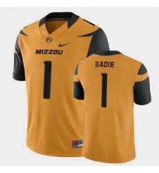 Men Missouri Tigers Tyler Badie College Football Gold Game Jersey