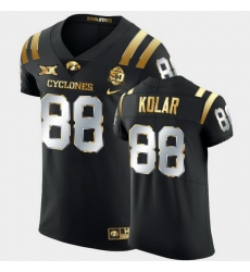 Men Iowa State Cyclones Charlie Kolar 2021 Fiesta Bowl Black Golden Edition Jersey