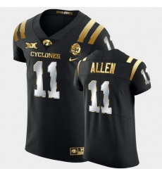 Men Iowa State Cyclones Chase Allen 2021 Fiesta Bowl Black Golden Edition Jersey