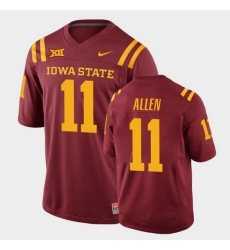 Men Iowa State Cyclones Chase Allen College Football Cardinal Replica Jersey