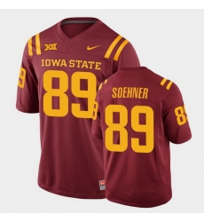 Men Iowa State Cyclones Dylan Soehner College Football Cardinal Replica Jersey