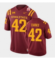 Men Iowa State Cyclones Jack Tiarks 2021 Fiesta Bowl Cardinal College Football Jersey 0A