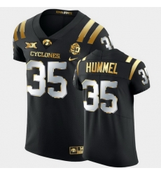 Men Iowa State Cyclones Jake Hummel 2021 Fiesta Bowl Black Golden Edition Jersey