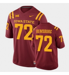 Men Iowa State Cyclones Jake Remsburg College Football Cardinal Replica Jersey