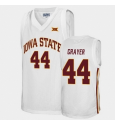 Men Iowa State Cyclones Jeff Grayer Alumni White College Basketball Jersey