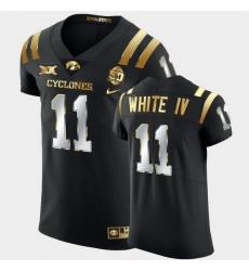 Men Iowa State Cyclones Lawrence White Iv 2021 Fiesta Bowl Black Golden Edition Jersey