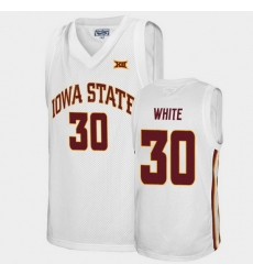 Men Iowa State Cyclones Royce White Alumni White College Basketball Jersey